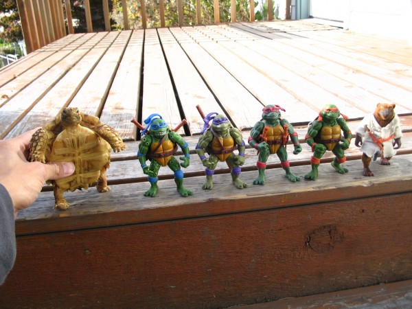 Mr. / Ms. Torty Underbitty posing with his ninjas