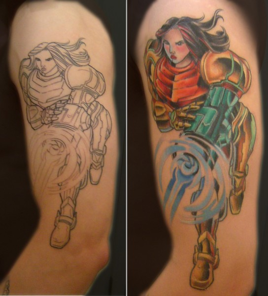 Tattoo Left Arm - Samus from Metroid