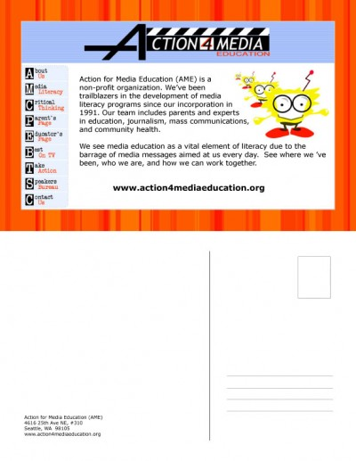 Postercards<br />University of Washington<br />Teen Futures Media Network:  Action for Media Education (AME)
