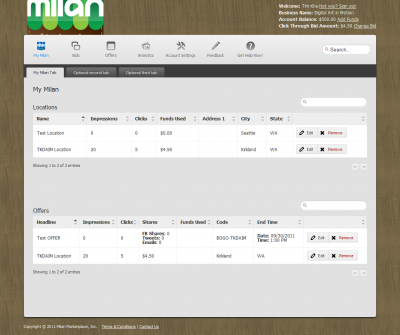 Milan Marketplace, Inc.