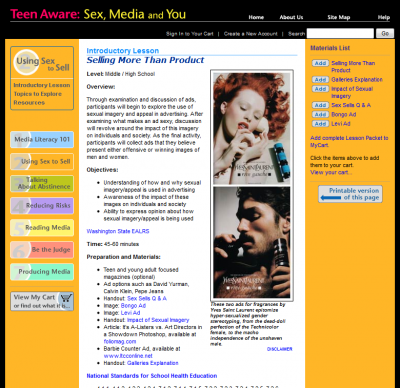 University of Washington<br />Teen Futures Media Network: Teen Aware:  Sex, Media and You